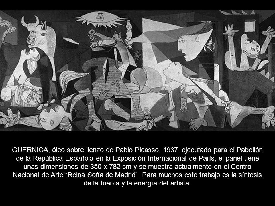 GUERNICA, óleo sobre lienzo de Pablo Picasso, 1937.