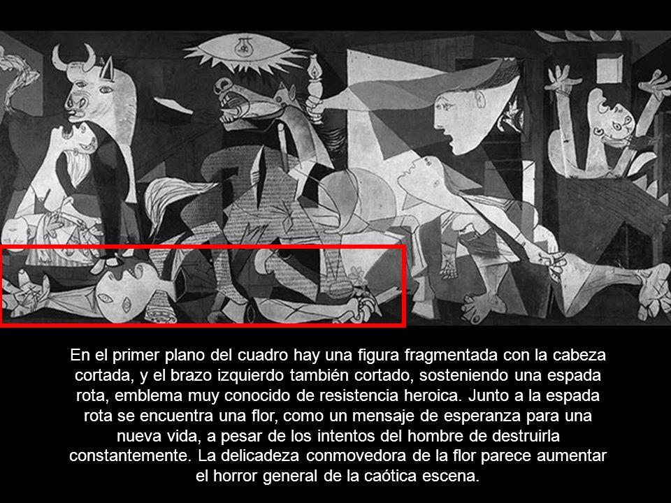 GUERNICA, óleo sobre lienzo de Pablo Picasso, 1937. ejecutado para el Pabellón de la República Española en la Exposición Internacional de París, el pa