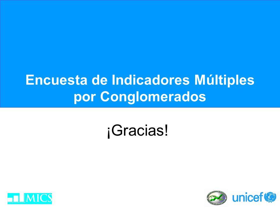 Encuesta de Indicadores Múltiples por Conglomerados ¡Gracias!