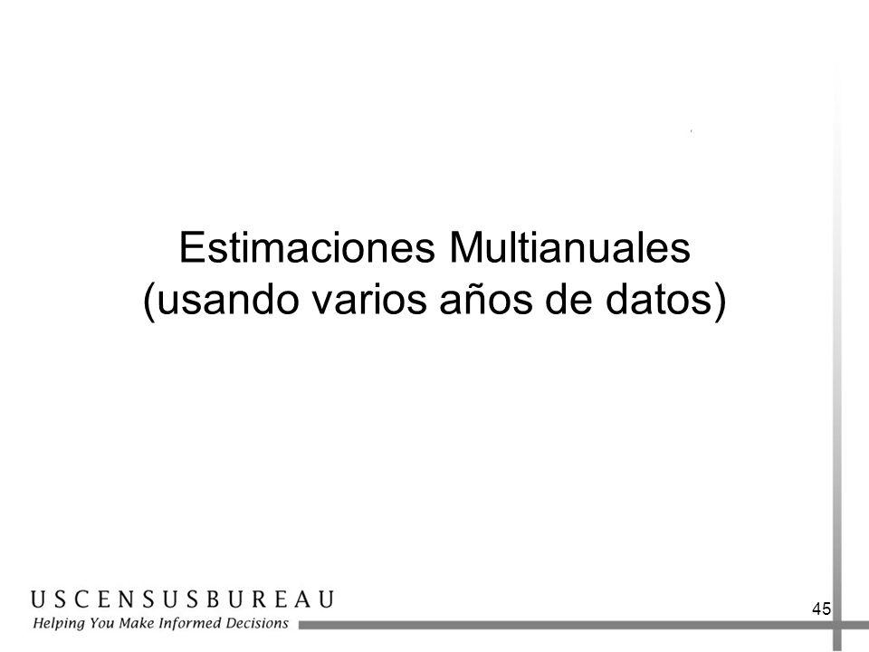 45 Estimaciones Multianuales (usando varios años de datos)