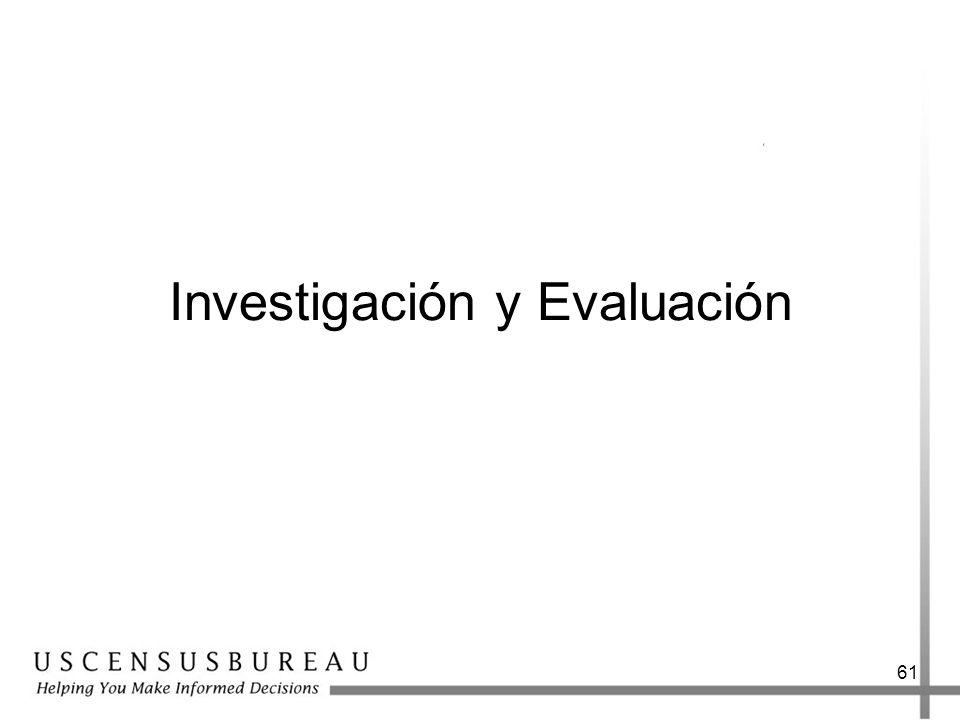 61 Investigación y Evaluación