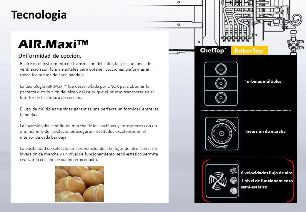 Tecnologia AIR.Maxi Turbinas múltiples Inversión de marcha Uniformidad de cocción. El aire es el instrumento de transmisión del calor, las prestacione