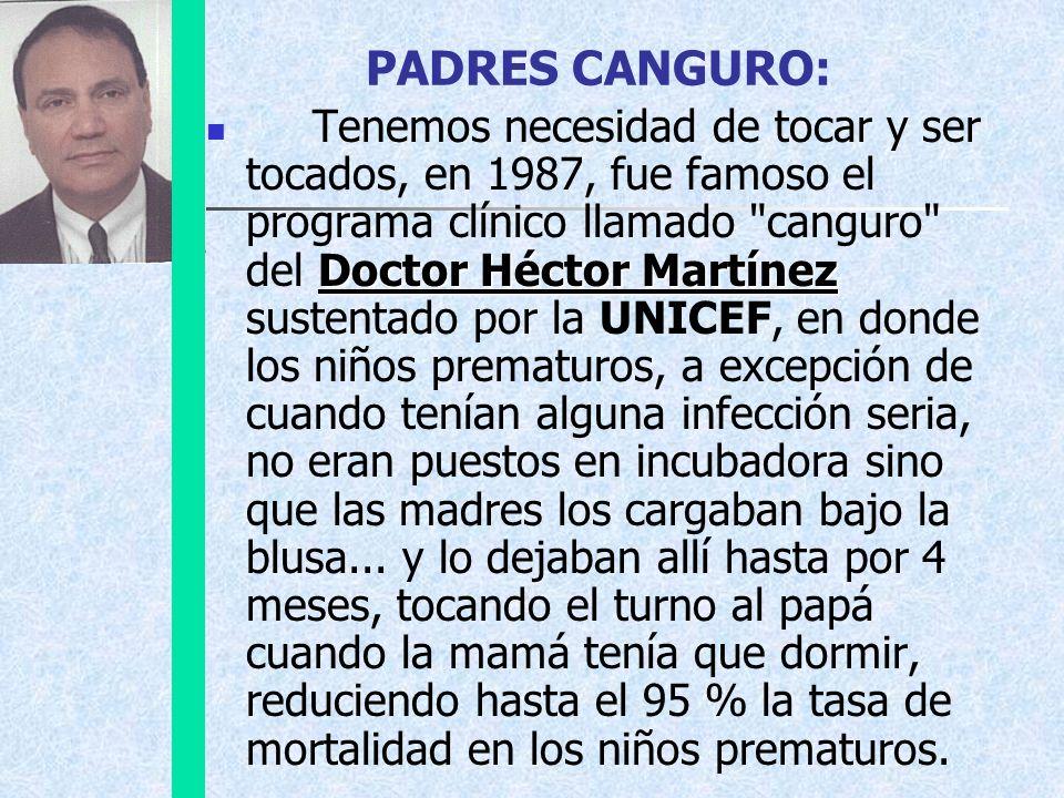 PADRES CANGURO: Doctor Héctor Martínez Tenemos necesidad de tocar y ser tocados, en 1987, fue famoso el programa clínico llamado