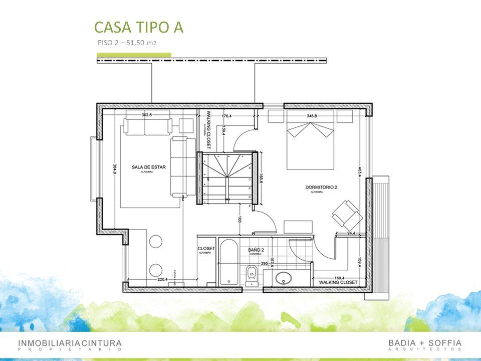 CASA TIPO A PISO 2 – 51,50 m 2