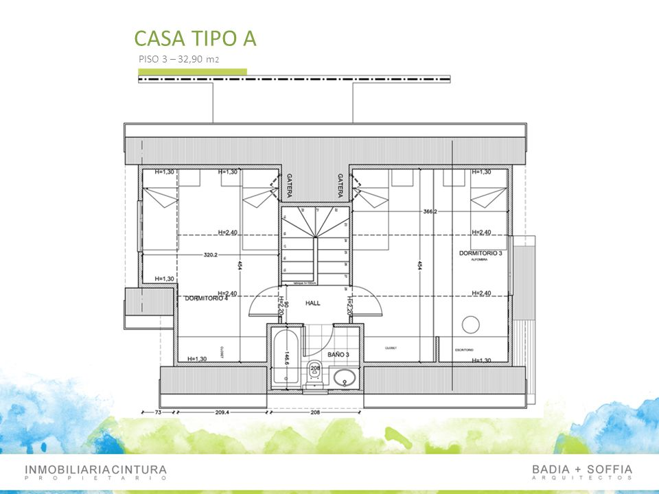 CASA TIPO A PISO 3 – 32,90 m 2