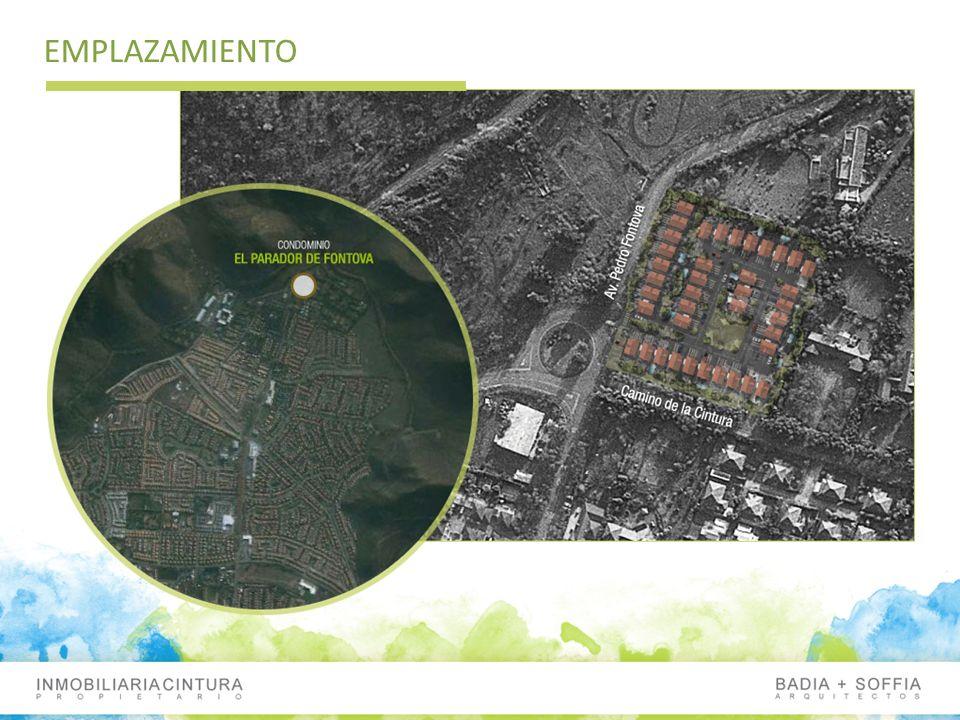 CONDOMINIO EL PARADOR DE FONTOVA Condominio de 39 casas 15 Casas de 106,47m2 de 2 pisos 24 Casas de 139,99m2 de 3 pisos Terrenos de 190 m2 Urbanización Subterránea Portería Áreas Verdes Estacionamientos