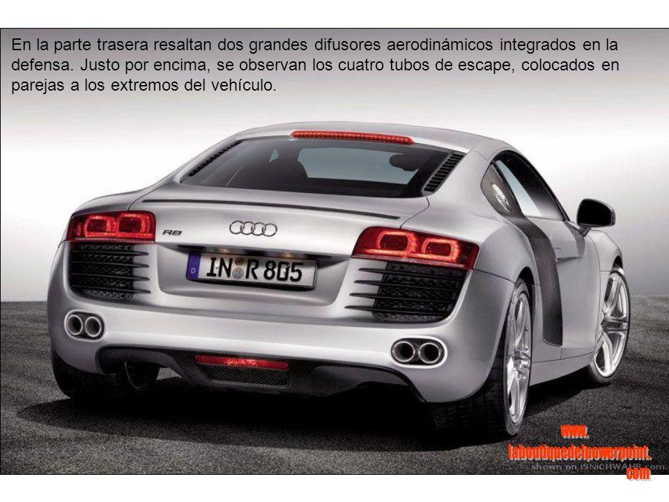 Otros detalles del Audi R8 estan presentes también alrededor de la carrocería.