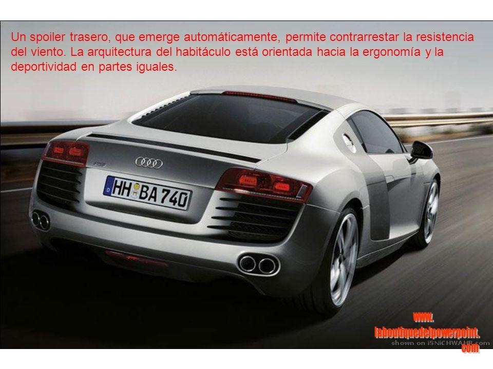 Ahora, la versión definitiva del biplaza R8, Audi pone una motor menos salvaje, que tiene su origen en las competencias.