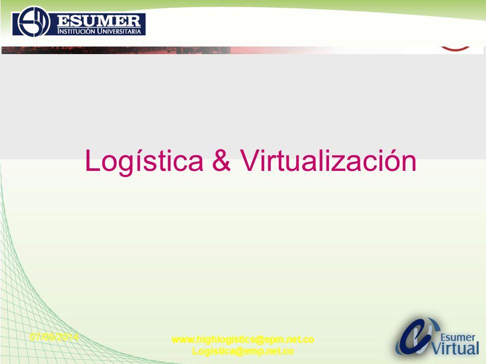 07/05/2014 www.highlogistics@epm.net.co Logistica@emp.net.co Logística & Virtualización