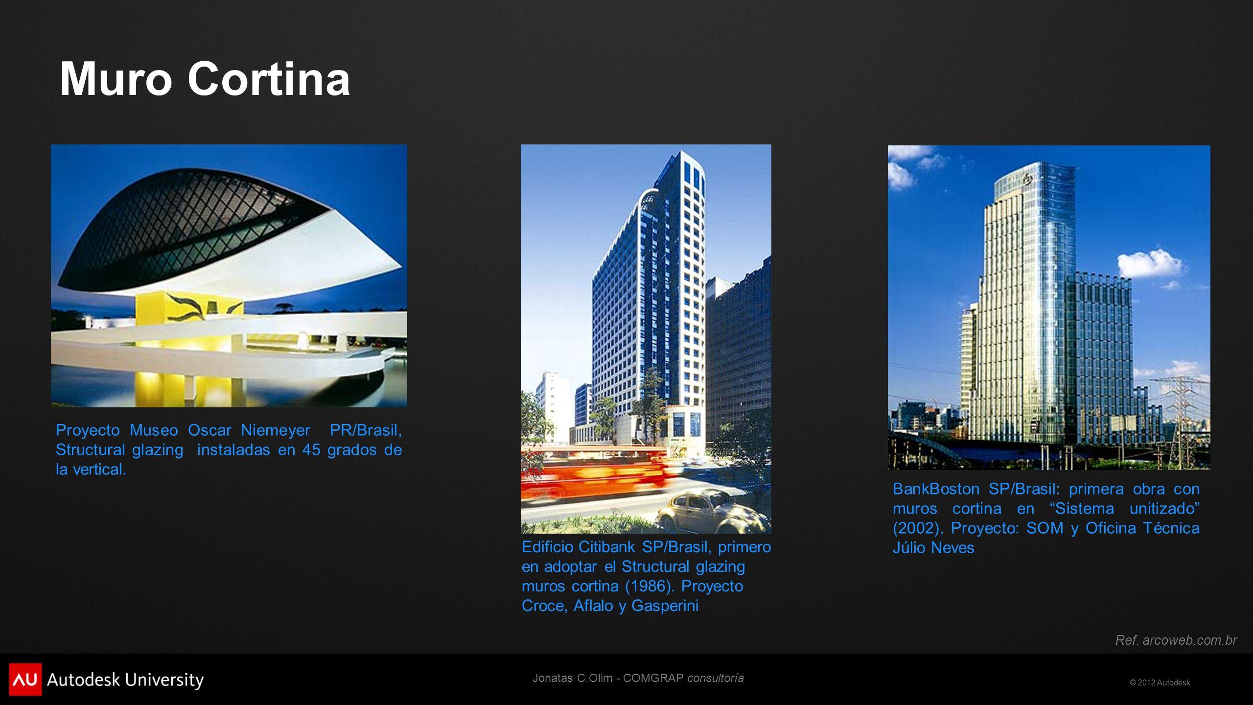 © 2012 Autodesk Fachadas prefabricadas Son fachadas compuestas por módulos de pared que vienen hechos de taller, ensamblándose unos a otros en obra.