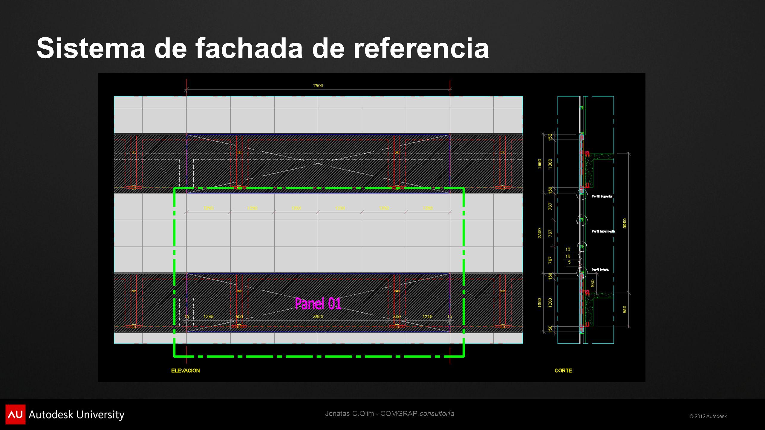 © 2012 Autodesk Muro Cortina Compuesto Ref. stamppfa.com.br Jonatas C.Olim - COMGRAP consultoría