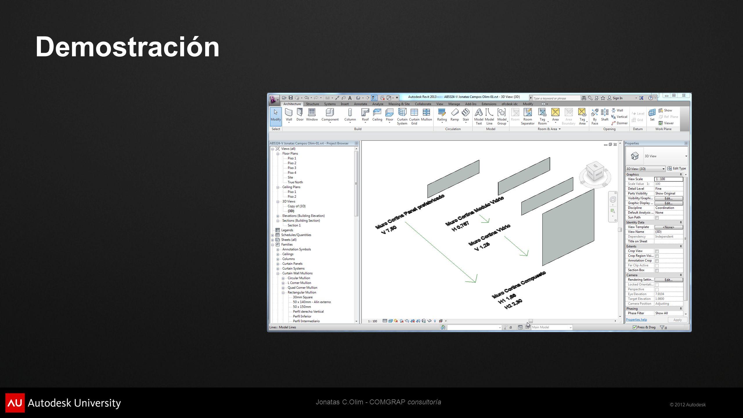 © 2012 Autodesk Demostración Jonatas C.Olim - COMGRAP consultoría