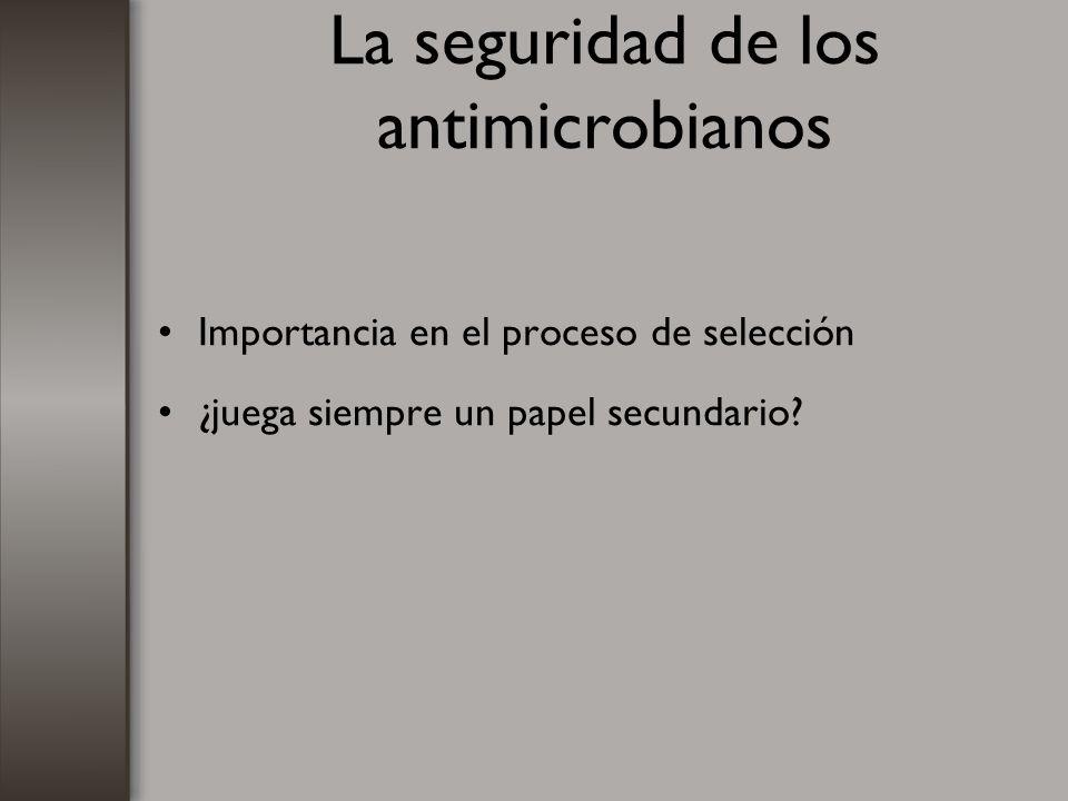 La seguridad de los antimicrobianos Importancia en el proceso de selección ¿juega siempre un papel secundario?