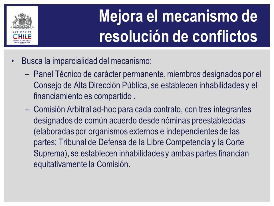 Mejora el mecanismo de resolución de conflictos Busca la imparcialidad del mecanismo: –Panel Técnico de carácter permanente, miembros designados por e