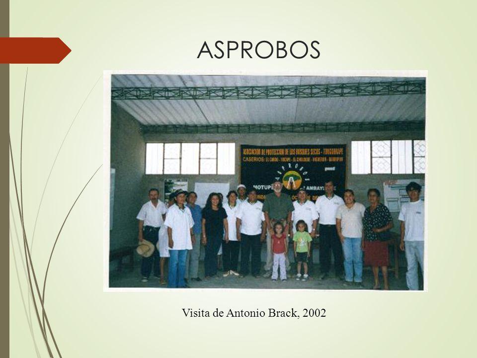 ASPROBOS Visita de Antonio Brack, 2002