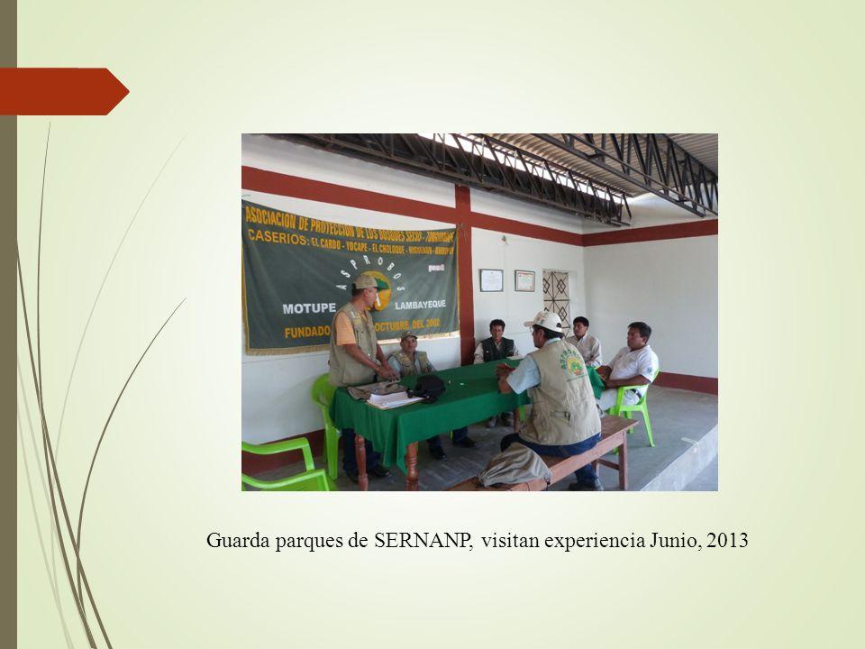 Guarda parques de SERNANP, visitan experiencia Junio, 2013