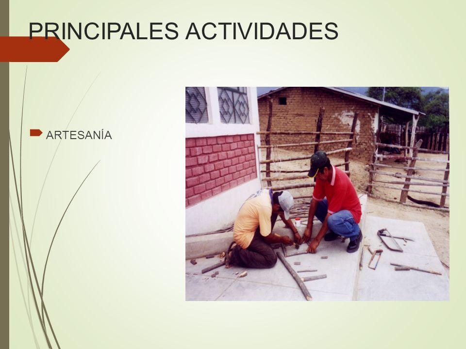 PRINCIPALES ACTIVIDADES ARTESANÍA
