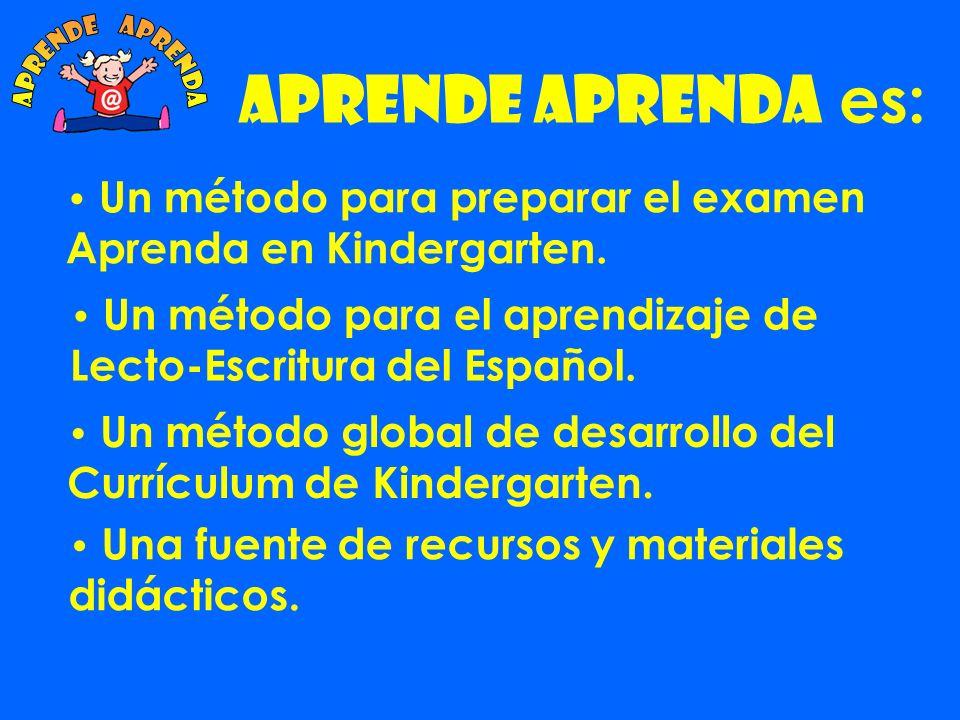 Aprende Aprenda es: Un método para preparar el examen Aprenda en Kindergarten.