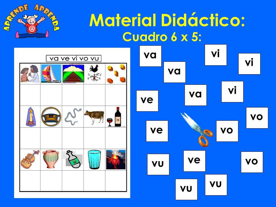 Material Didáctico: Cuadro 6 x 5: