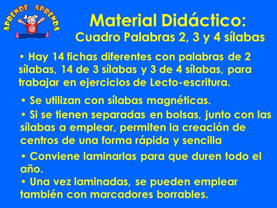 Material Didáctico: Cuadro 6 x 5: va ve vi vo vavevi