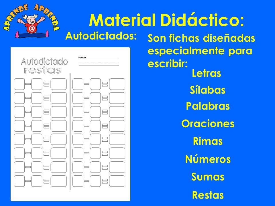 Material Didáctico: Cuadro Palabras 4 sílabas.