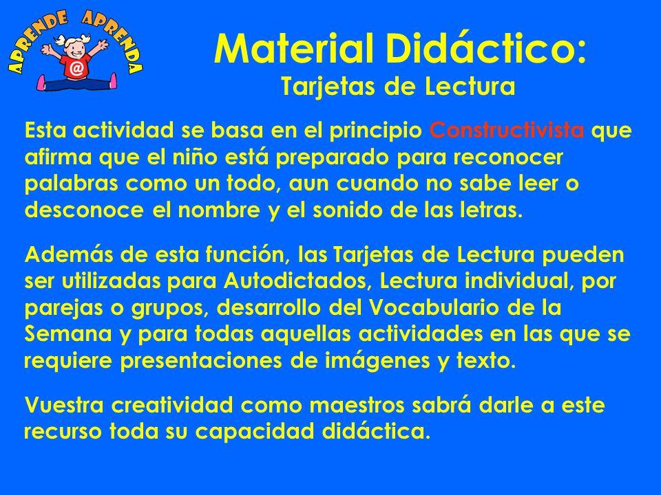 Material Didáctico: Tarjetas de Lectura ¿Cómo se usan.
