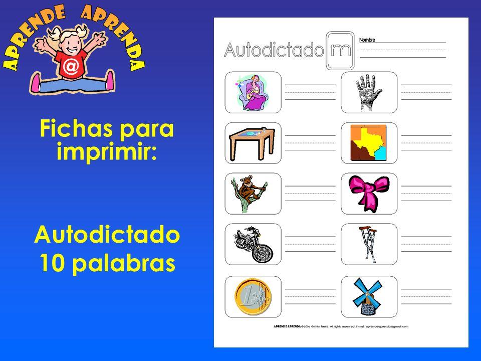 Fichas para imprimir: Cuadro Sílabas M