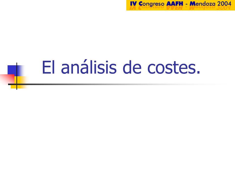 El análisis de costes.