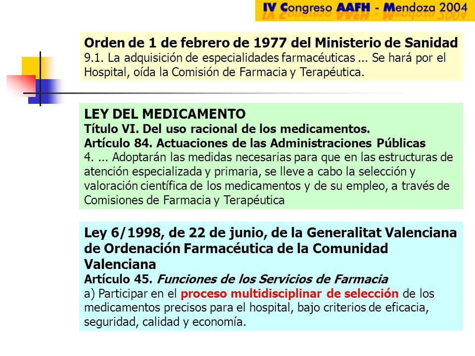 Ley 6/1998, de 22 de junio, de la Generalitat Valenciana de Ordenación Farmacéutica de la Comunidad Valenciana Artículo 45. Funciones de los Servicios