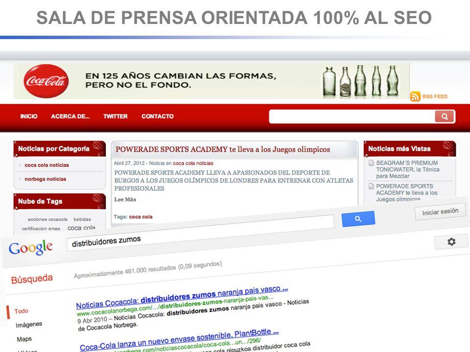 SALA DE PRENSA ORIENTADA 100% AL SEO