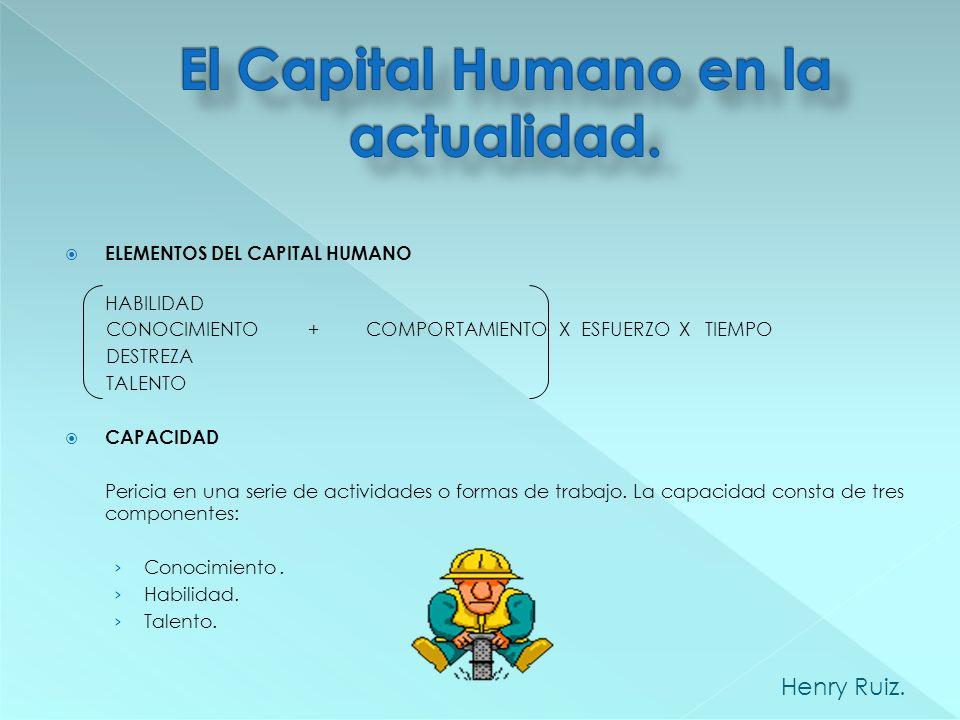 El capital humano es importante pues los medios materiales sólo se convierten en un producto terminado cuando pasan por el proceso de producción reali
