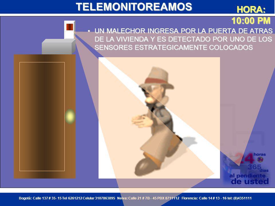 Bogotá: Calle 137 # 35- 15 Tel 6261212 Celular 3107863895 Neiva: Calle 21 # 7B - 45 PBX 8711112 Florencia: Calle 14 # 13 - 16 tel: (8)4351111 ****** HORA: 10:00 PM EXPLICACION DEL FUNCIONAMIENTO DE UN EVENTO DE ALARMASEXPLICACION DEL FUNCIONAMIENTO DE UN EVENTO DE ALARMASEXPLICACION DEL FUNCIONAMIENTO DE UN EVENTO DE ALARMASEXPLICACION DEL FUNCIONAMIENTO DE UN EVENTO DE ALARMASTELEMONITOREAMOS