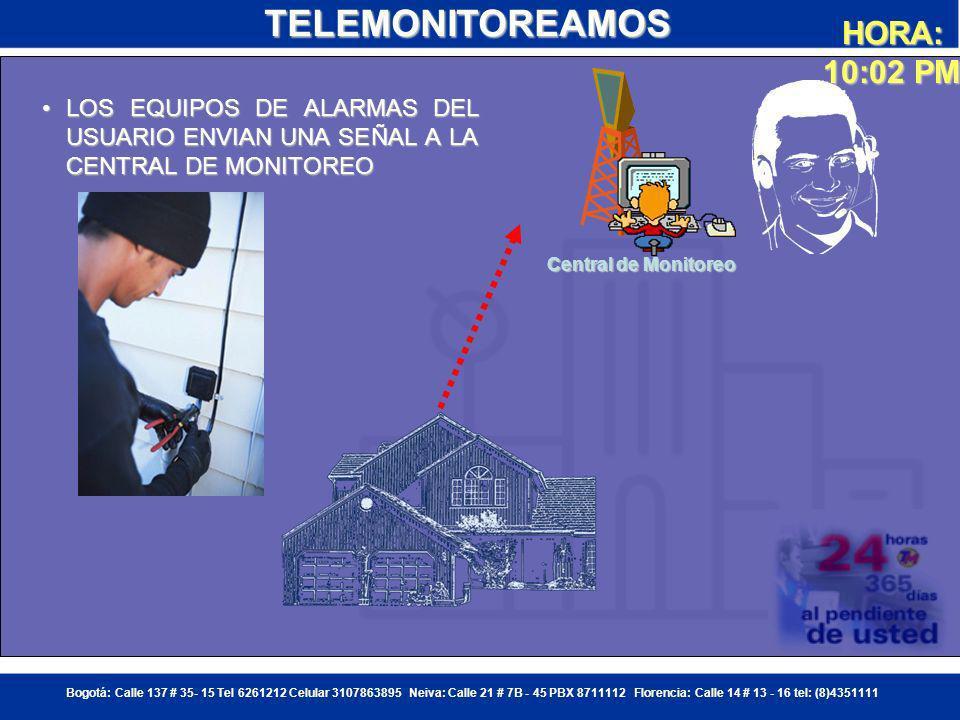 Bogotá: Calle 137 # 35- 15 Tel 6261212 Celular 3107863895 Neiva: Calle 21 # 7B - 45 PBX 8711112 Florencia: Calle 14 # 13 - 16 tel: (8)4351111 UN MALECHOR INGRESA POR LA PUERTA DE ATRAS DE LA VIVIENDA Y ES DETECTADO POR UNO DE LOS SENSORES ESTRATEGICAMENTE COLOCADOSUN MALECHOR INGRESA POR LA PUERTA DE ATRAS DE LA VIVIENDA Y ES DETECTADO POR UNO DE LOS SENSORES ESTRATEGICAMENTE COLOCADOSUN MALECHOR INGRESA POR LA PUERTA DE ATRAS DE LA VIVIENDA Y ES DETECTADO POR UNO DE LOS SENSORES ESTRATEGICAMENTE COLOCADOSUN MALECHOR INGRESA POR LA PUERTA DE ATRAS DE LA VIVIENDA Y ES DETECTADO POR UNO DE LOS SENSORES ESTRATEGICAMENTE COLOCADOSTELEMONITOREAMOS HORA: 10:00 PM