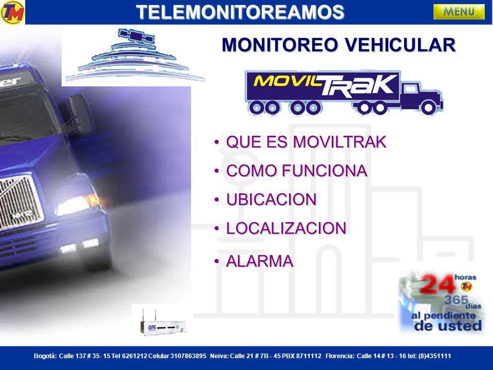 Bogotá: Calle 137 # 35- 15 Tel 6261212 Celular 3107863895 Neiva: Calle 21 # 7B - 45 PBX 8711112 Florencia: Calle 14 # 13 - 16 tel: (8)4351111TELEMONITOREAMOSGRACIAS TELEMONITOREAMOS HORA: 10:30 PM