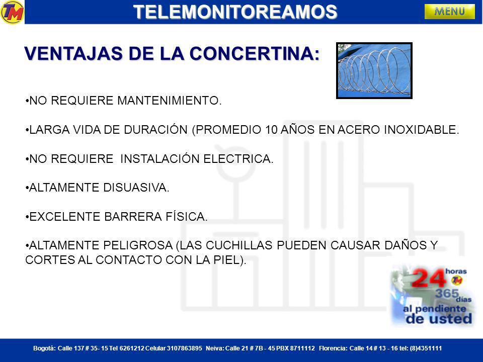 Bogotá: Calle 137 # 35- 15 Tel 6261212 Celular 3107863895 Neiva: Calle 21 # 7B - 45 PBX 8711112 Florencia: Calle 14 # 13 - 16 tel: (8)4351111 QUE ES LA CONCERTINA.