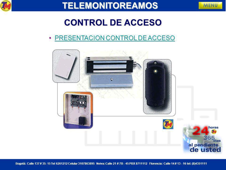 Bogotá: Calle 137 # 35- 15 Tel 6261212 Celular 3107863895 Neiva: Calle 21 # 7B - 45 PBX 8711112 Florencia: Calle 14 # 13 - 16 tel: (8)4351111 FUNCIONAMIENTO DVR TELEMONITOREAMOS Desde una sola pantalla se pueden administrar hasta 16 diferentes cámaras
