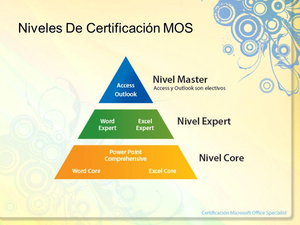 Niveles De Certificación MOS