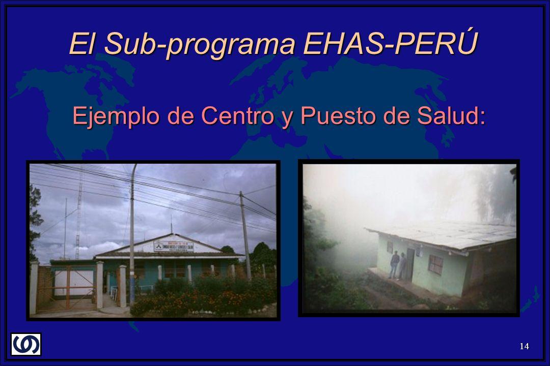 14 Ejemplo de Centro y Puesto de Salud: El Sub-programa EHAS-PERÚ