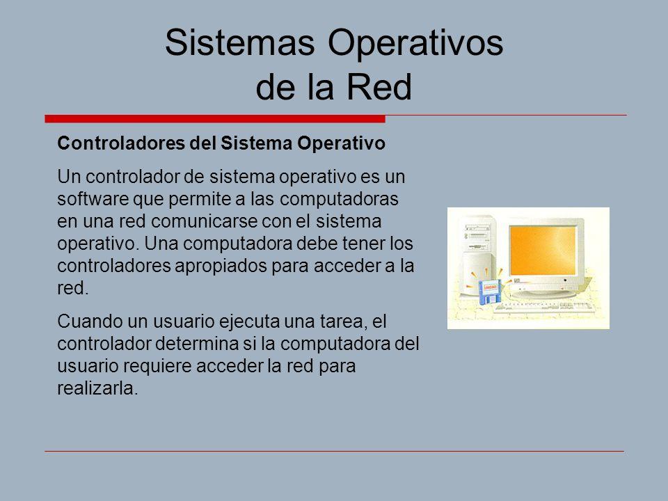 Sistemas Operativos de la Red Controladores del Sistema Operativo Un controlador de sistema operativo es un software que permite a las computadoras en una red comunicarse con el sistema operativo.