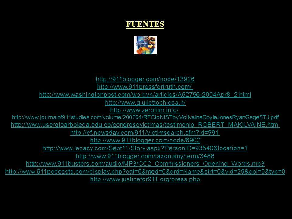 ARTÍCULOS RELACIONADOS PILOTOS Y CONTROLADORES POR LA VERDAD ESPECIAL 11-$ ZEITGEIST - EL ESPÍRITU DE LA ERA III TERRORISMO: POLÍTICA DE ESTADO SEGUNDA COLISIÓN EN EL WTC DE NUEVA YORK MINISTRA FRANCESA OPINA SOBRE EL 11-$ DETENER-RETENER-LIBERAR LA SOLUCIÓN AL PROBLEMA YA LLEGÓ PROBLEMA-REACCIÓN-SOLUCIÓN KENNEDY Y EL 11-$ NACIÓN DE SOSPECHOSOS - SUSPECT NATION MIEDO Y TERROR - FEAR AND TERROR THE PENTACON 9-11 PRESS FOR TRUTH EN ESPAÑOL