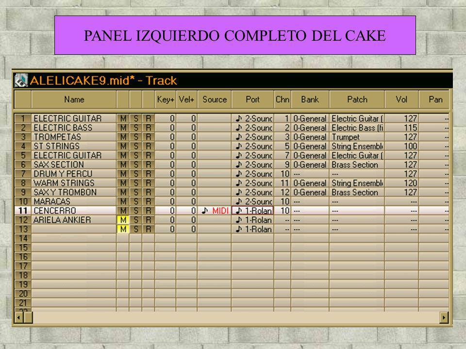 PANEL IZQUIERDO COMPLETO DEL CAKE
