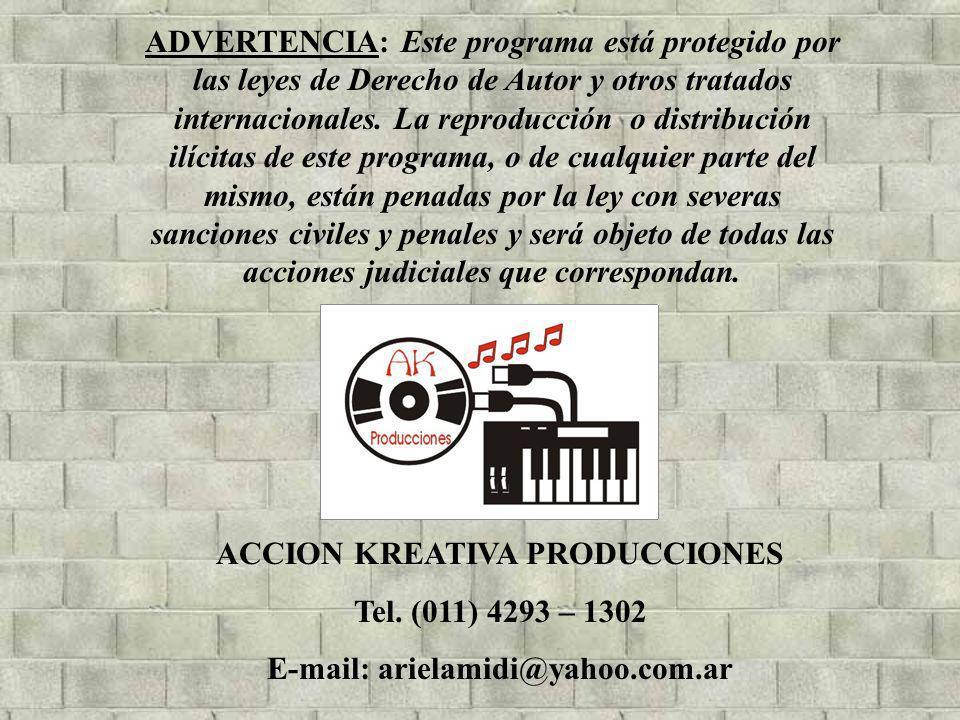 ADVERTENCIA: Este programa está protegido por las leyes de Derecho de Autor y otros tratados internacionales. La reproducción o distribución ilícitas