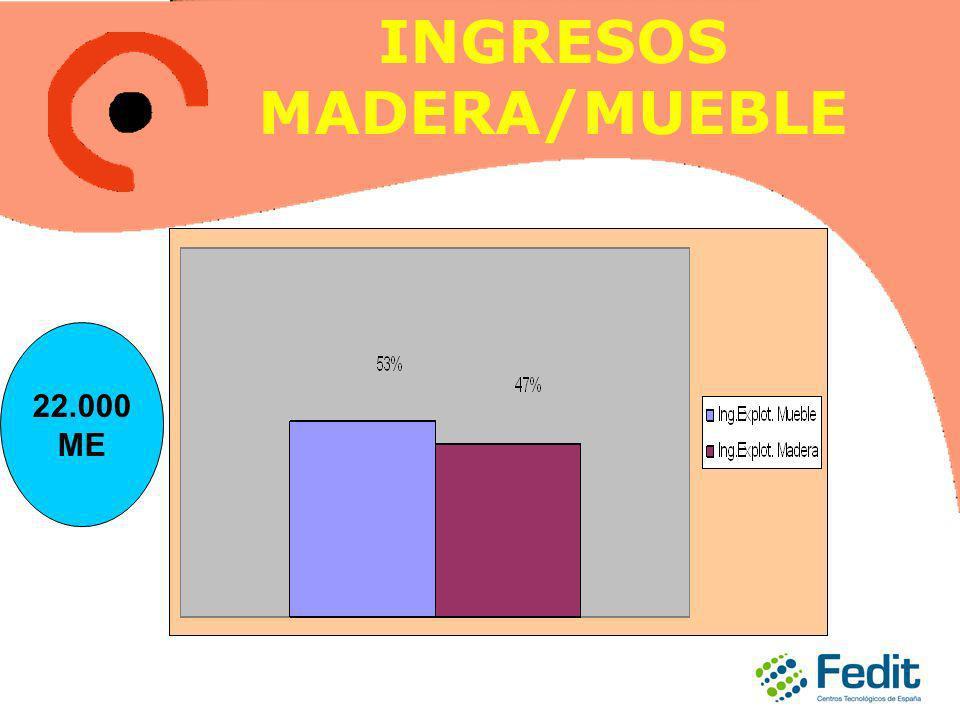 INGRESOS MADERA/MUEBLE 22.000 ME