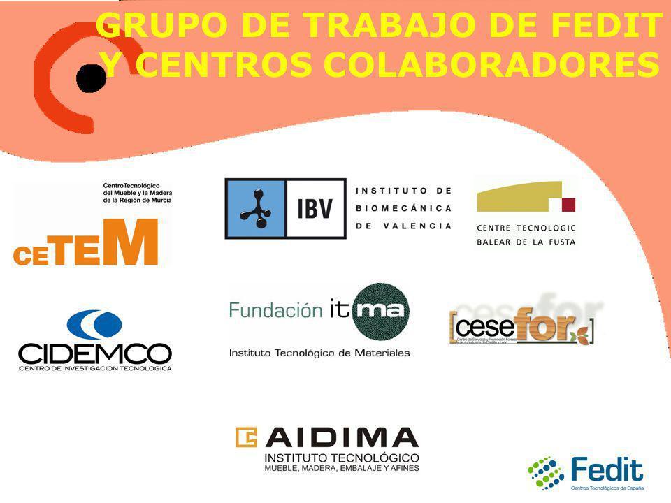 GRUPO DE TRABAJO DE FEDIT Y CENTROS COLABORADORES