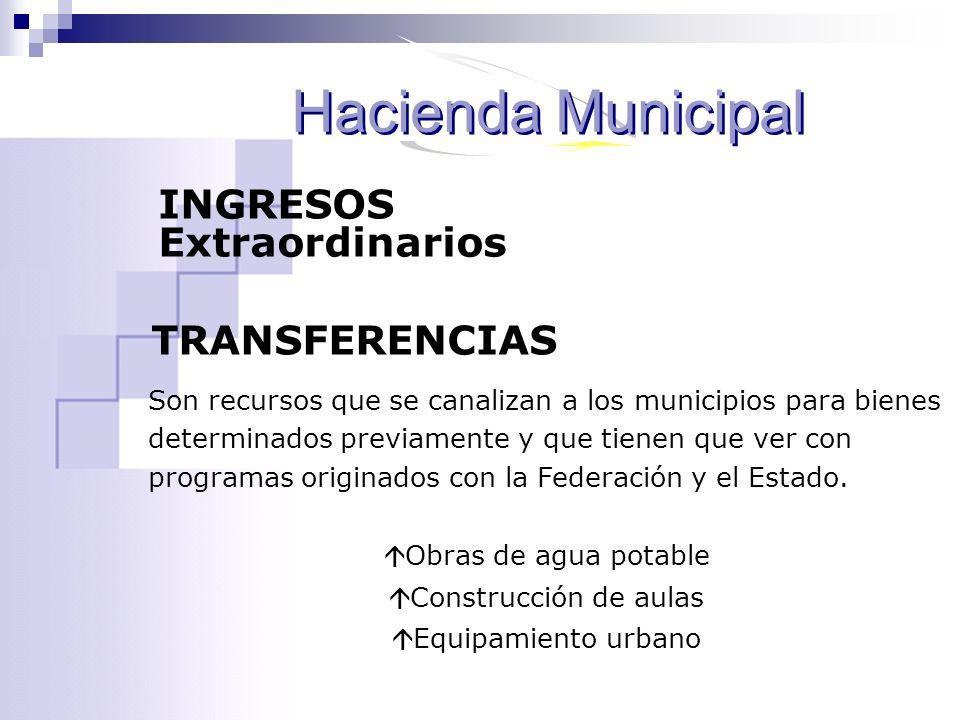 Son recursos que se canalizan a los municipios para bienes determinados previamente y que tienen que ver con programas originados con la Federación y