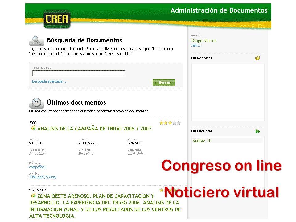 Congreso on line Noticiero virtual