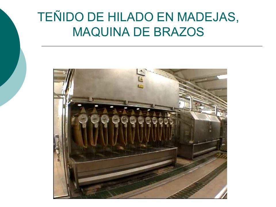 TEÑIDO DE HILADO EN MADEJAS, MAQUINA DE BRAZOS