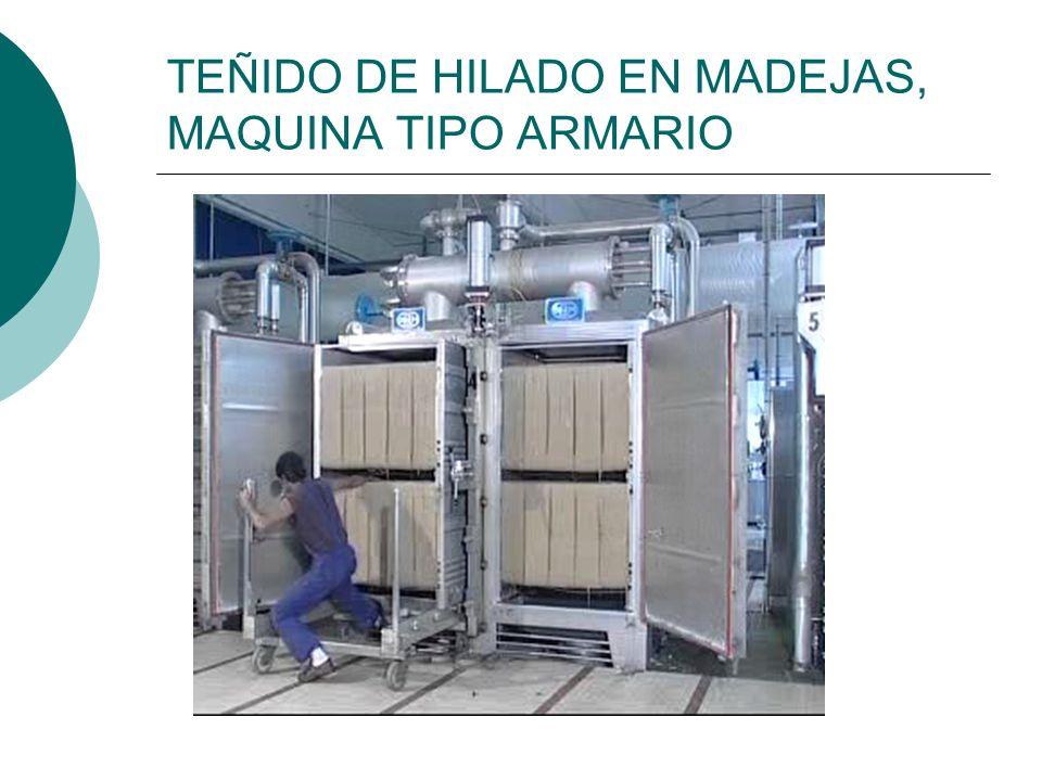 TEÑIDO DE HILADO EN MADEJAS, MAQUINA TIPO ARMARIO