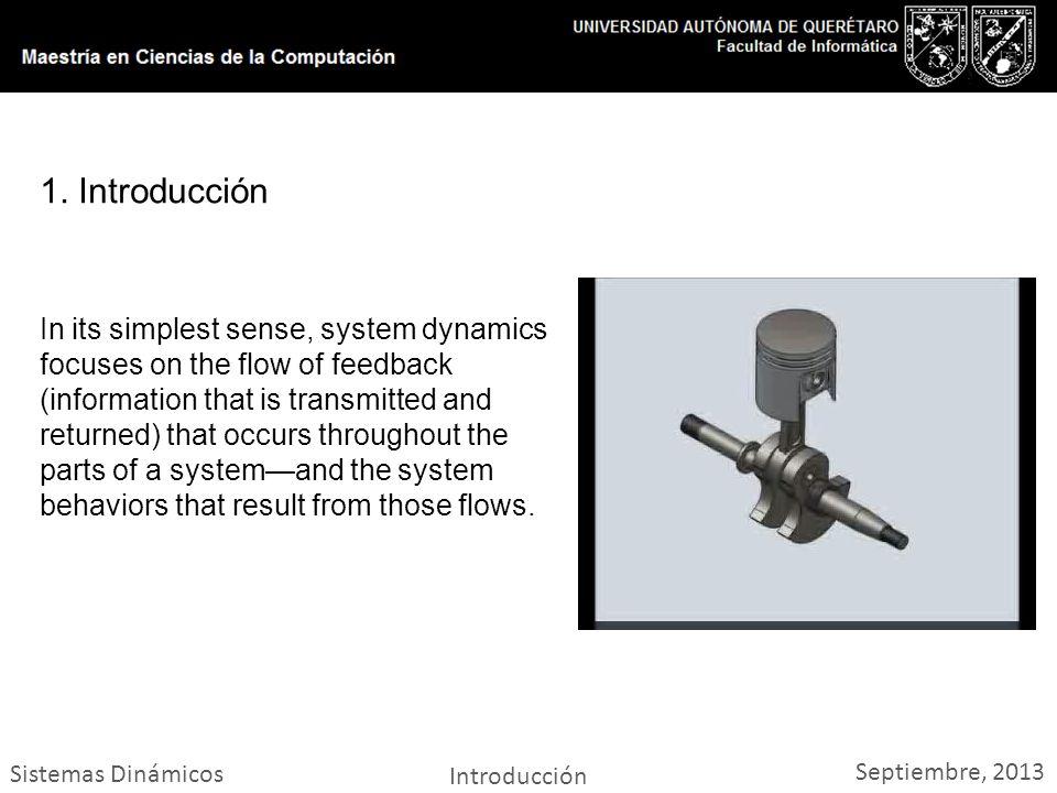 Sistemas Dinámicos Introducción Septiembre, 2013 1.