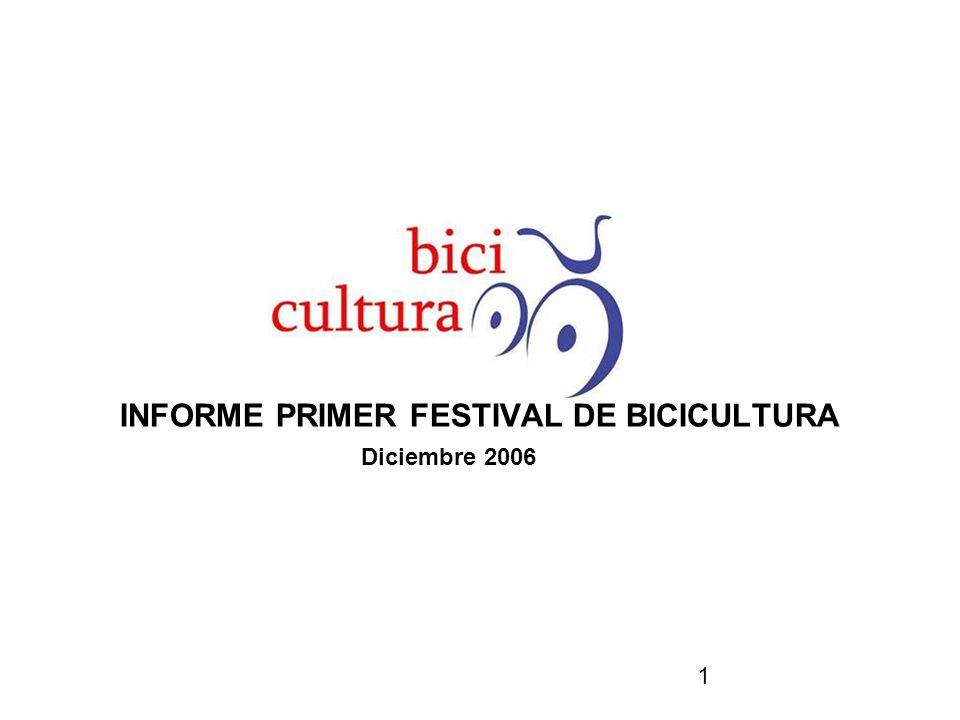 1 INFORME PRIMER FESTIVAL DE BICICULTURA Diciembre 2006